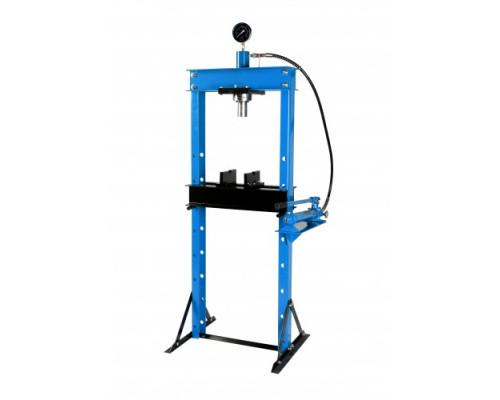 Пресс гидравлический 20т с манометром и выносным насосом (размер:182x70x60см,диапазон работ: 0-115см