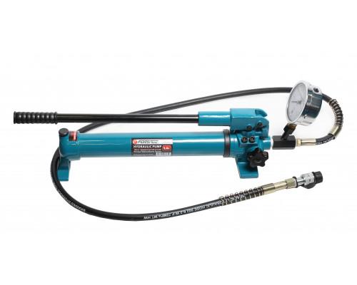 Насос гидравлический ручной с манометром(20-700bar,емкость масла-1л, длина-600мм,ширина-120мм,высота