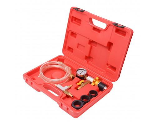 Набор приспособлений для замены жидкости и проверки давления в системе охлаждения  а/м, 6пр., в кейс
