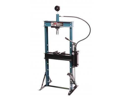 Пресс гидравлический с манометр.напольный 12т,ручной/ножной привод(рабочая высота:0-900мм,рабочая ши