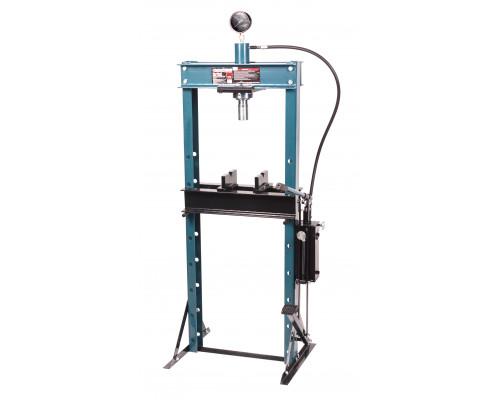 Пресс гидравлический с манометром напольный 20т, (рабочая высота: 0-1100мм, рабочая ширина: 490мм, р