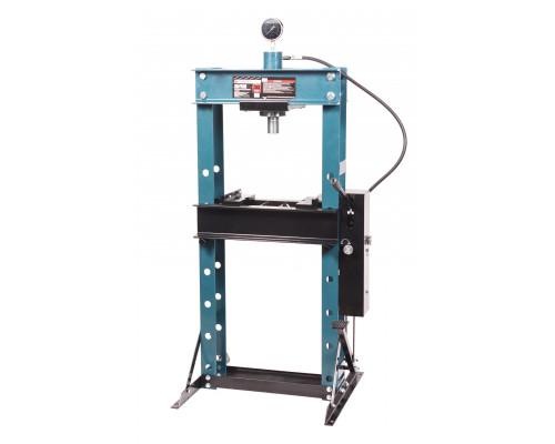 Пресс гидравлический с манометром напольный 30т, ручной/ножной привод (раб. высота:0-975мм, раб. шир