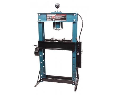 Пресс гидравлический напольный 40т, ручной/ножной привод (рабочая высота: 0-865мм, рабочая ширина: 6
