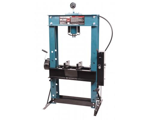 Пресс гидравлический напольный 50т, ручной/ножной привод (рабочая высота: 0-865мм, рабочая ширина: 6