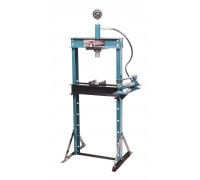 Пресс гидравлический с манометром напольный 12т, (раб. высота: 0-900мм, раб. ширина: 475мм, раб. сто