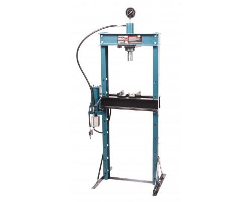 Пресс гидравлический с манометром напольный 20т, ручной/пневмо привод (раб. высота:0-1100мм, раб. ши