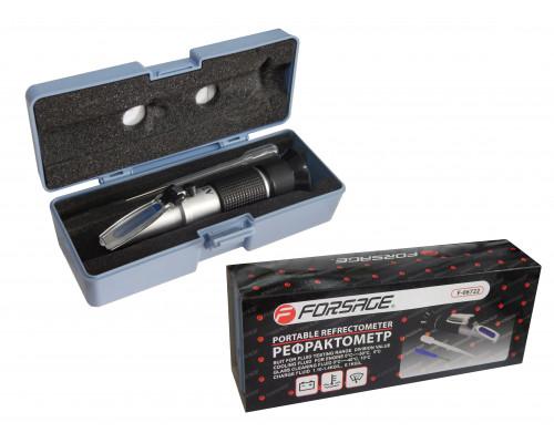 Рефрактометр 3в1(антифриз, электролит, омывающая жидкость), в пластиковом футляре