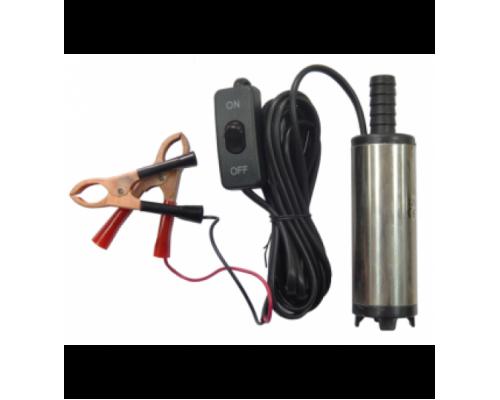 Насос для перекачки топлива (12В, диам. 38мм, мощность 40Вт, 20 л/мин., диам. выходного отверстия 16