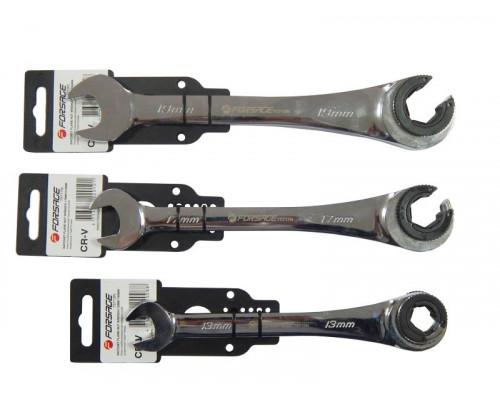 Ключ комбинированный трещоточный разрезной 13мм
