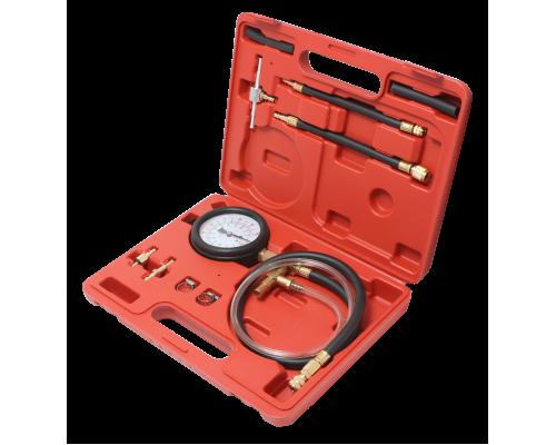 Тестер давления топлива в комплекте с адаптерами переходниками 10пр.(0-7Bar), в кейсе