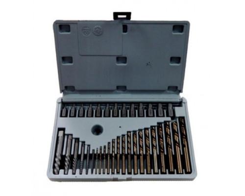 Набор бит-экстракторов для извлечения поврежденных болтов 35пр.   (M3.5-M5.5,M6.5,M7.5-M11.5,M12-M14