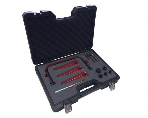 Рассухариватель клапанов струбцинного типа с комплектом магнитных щипцов и сменных адаптеров (размер