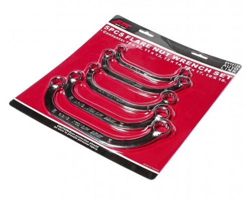 Набор ключей накидных 10-18мм С-образных 12-ти гранных 5 предметов JTC