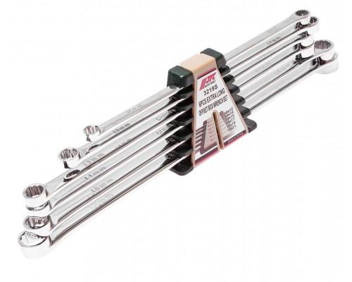 Набор ключей накидных 10-21мм удлиненных 12-ти гранных 6 предметов JTC