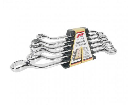 Набор ключей накидных 10-24мм 45град. 12-ти гранных (зеркальная полировка) 6 предметов JTC