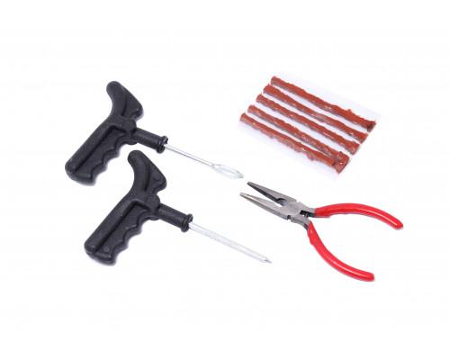 Набор инструментов для ремонта шин 8пр.(шило,протяжка,шнуры,утконосы), в блистере
