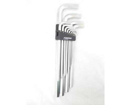 Набор ключей Г-образных 6-гранных экстра длинных 13пр.(2, 2.5, 3-8, 10, 12, 14, 17, 19мм)в пластиков