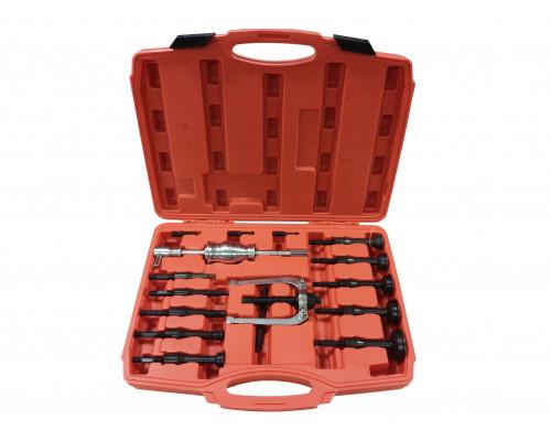 Комплект съемников внутренних подшипников цанговый с обратным молотком,16пр. (8-58мм), в кейсе