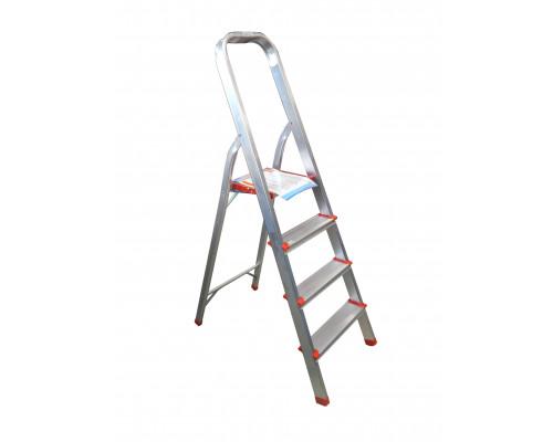 Лестница-стремянка алюминиевая (4 ступеньки,высота рабочая - 780мм, высота полная 1280мм)