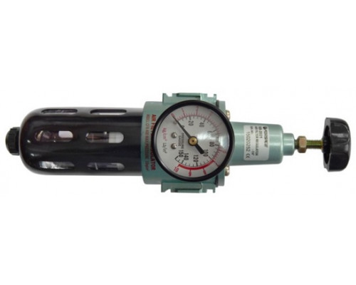 """Фильтр тонкой очистки 5Мк с регулятором и манометром для  пневмосистем 3/8"""""""