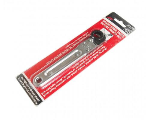 Ключ раскрывающийся 13мм 12-ти гранный L=150мм с трещоткой JTC
