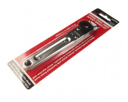 Ключ раскрывающийся 14мм 12-ти гранный L=150мм с трещоткой JTC