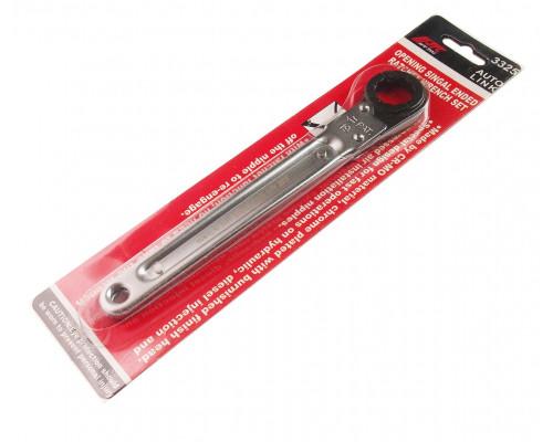 Ключ раскрывающийся 19мм 12-ти гранный L=200мм с трещоткой JTC
