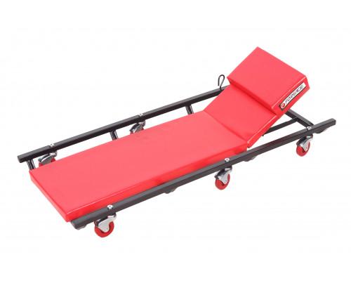 Лежак ремонтный подкатной на 6-ти колесах с регулируемым подголовником (425х125мм)