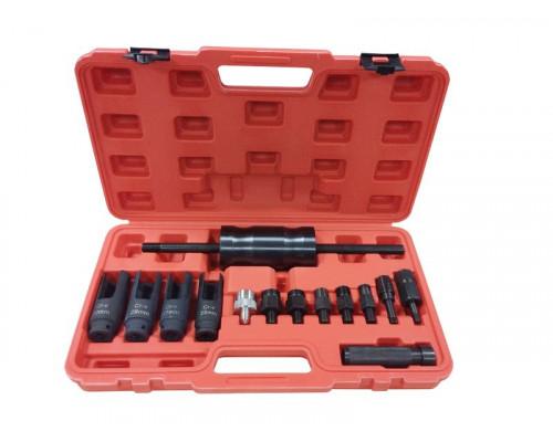 Комплект для снятия дизельных форсунок с обратным молотком, головками и резьбовыми адаптерами (голов