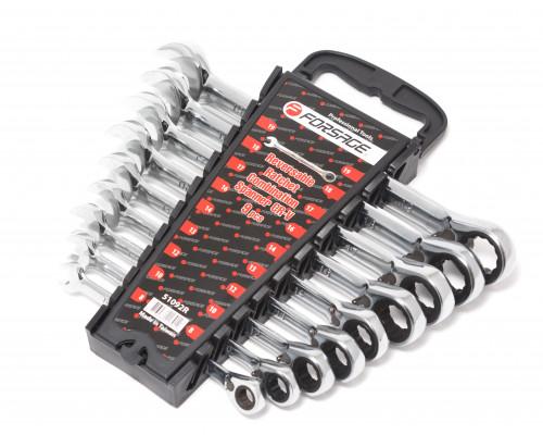 Набор ключей комбинированных трещоточных с реверсом 9пр. (8,10,12,13,14,16,17,18,19мм)в пластиковом