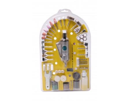 Пневмобормашинка в блистере с набором аксессуаров  (цанга - 3мм,  25,000 об/мин)134пр., PA-LX-016