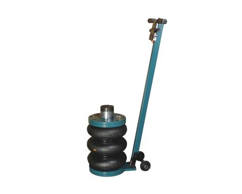 Домкрат пневматический подкатной с удлиненной регулируемой рукояткой + адаптер-удлинитель с резиново