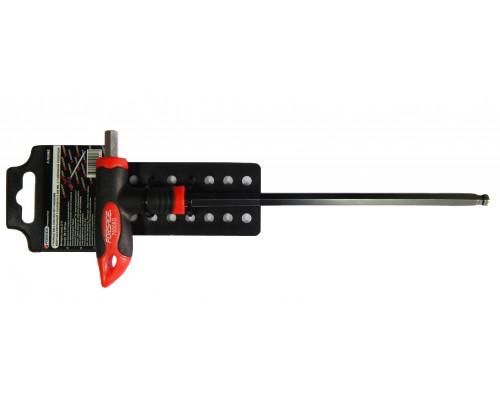 Ключ Т-образный 6-гранный с шаром и прорезиненной рукояткой H2.5x75мм, на пластиковом держателе