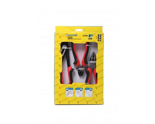 Набор шарнирно-губцевого инструмента CR-V, 3пр (бокорезы-150мм, пассатижи комбинированные-180мм, пас