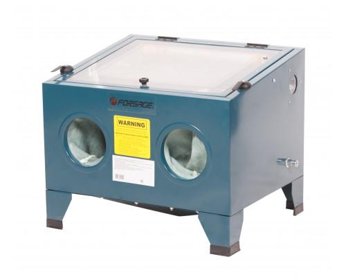 Пескоструйная  камера (объем-72л, 6.8атм,340м/мин )настольная пневмо.