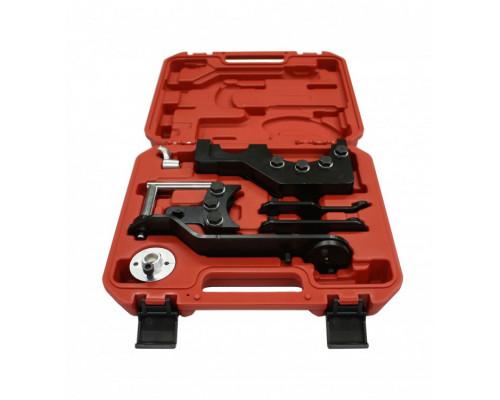 Набор фиксаторов для обслуживания двигателей VW Tuareg, T5, Transporter, 7пр. (2.5, 4.9D), в кейсе