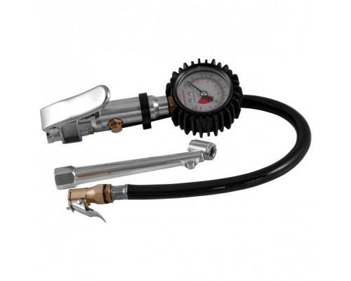 Пистолет для подкачки шин с манометром и наконечником для груз. колес(0-15bar),в блистере