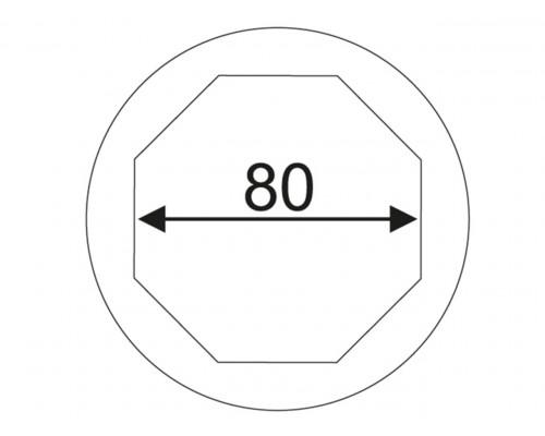 """Головка для ступичных гаек передних колес 1"""" 80мм 8-гранная (SCANIA) JTC"""