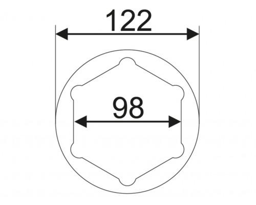 Головка ступичная SW36х98мм L=117мм (IVECO) JTC