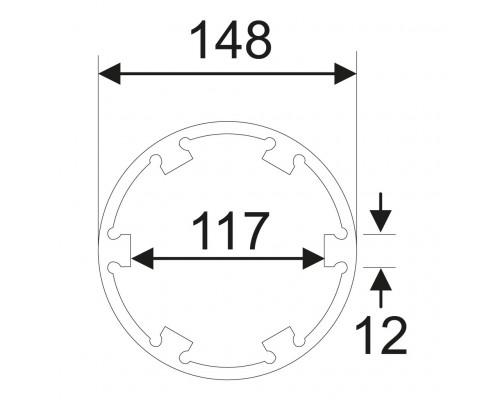 Головка ступичная для задней оси 6Т d=145мм L=160мм (MAN TGA) JTC