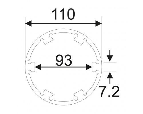 Головка ступичная для оси передней 6Т, d=110мм, L=80мм (MAN TGA) JTC