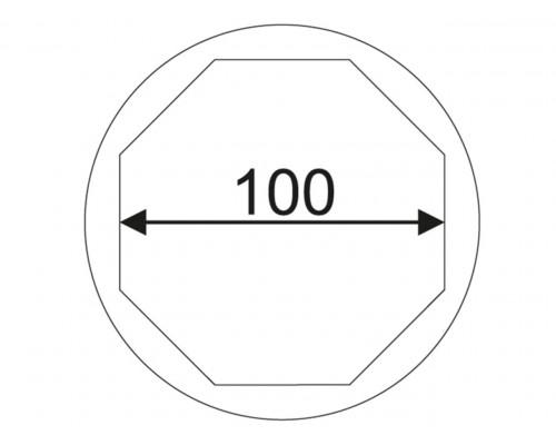 """Головка торцевая 1"""" 100мм 8-гранная для ступичных гаек задних колес (SCANIA) JTC"""