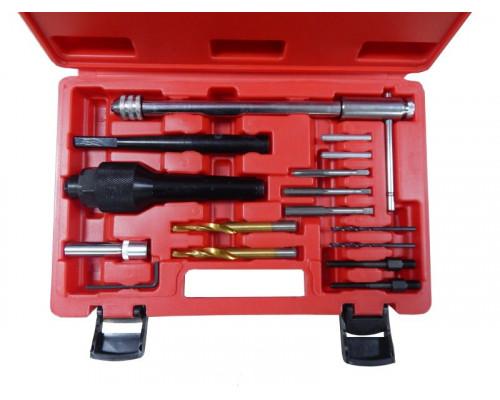 Комплект инструментов для извлечения свечей накаливания и реставрации резьбы