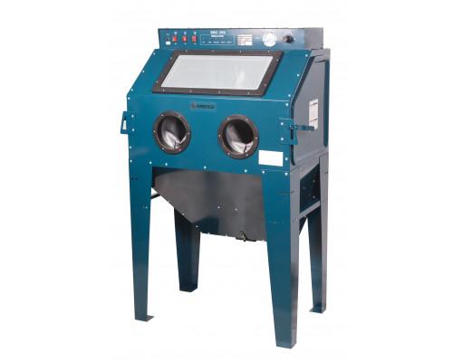 Пескоструйная камера с электродвигателем для очистки воздуха 220B(объем-350л, 510л/мин, 3.4-6.1атм)п