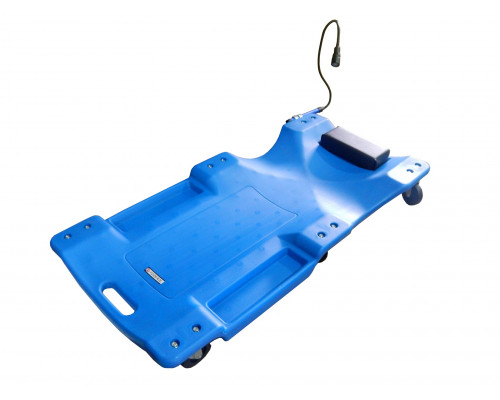 "Лежак для автослесаря пластиковый на 6-ти колесах с фонарем на гибком удлинителе 40"" (1050х490х95мм)"
