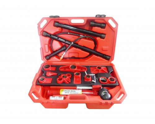 Набор гидравлического оборудования для кузовных работ, 10т (насос, цилиндр + комплект удлинителей и