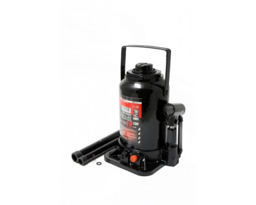 Домкрат бутылочный 10т низкопрофильный с клапаном (h min-160мм, h max-290мм, ход штока-80мм, ход вин