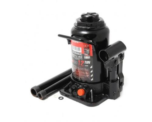 Домкрат бутылочный 12т низкопрофильный с клапаном(h min-170мм, h max-305мм, ход штока-85мм, ход винт