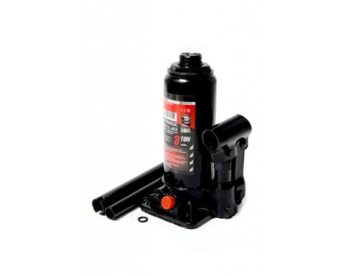 Домкрат бутылочный двухштоковый с клапаном 2т+доп. ремкомплект (h min-160мм, h max-340мм, ход штока-