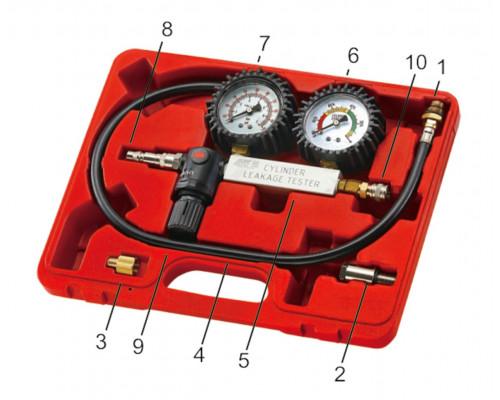 Набор инструментов для выявления утечек в цилиндрах, диапазон 0-100PSI в кейсе JTC